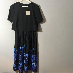 ASOS Short Sleeve Midi Dress
